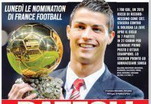 Tuttosport lancia la candidatura di Cristiano Ronaldo come prossimo Pallone d'Oro