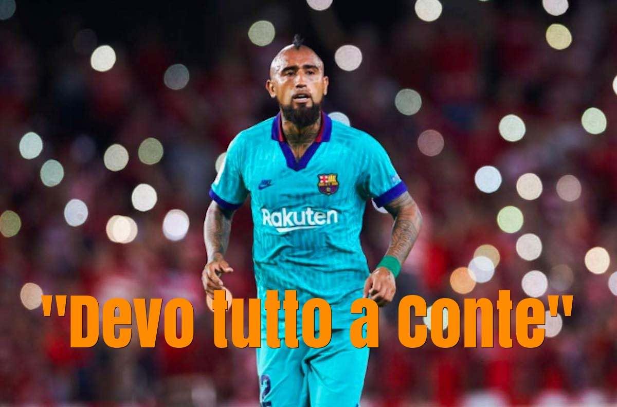 Vidal assist all'Inter e gratitudine a Conte
