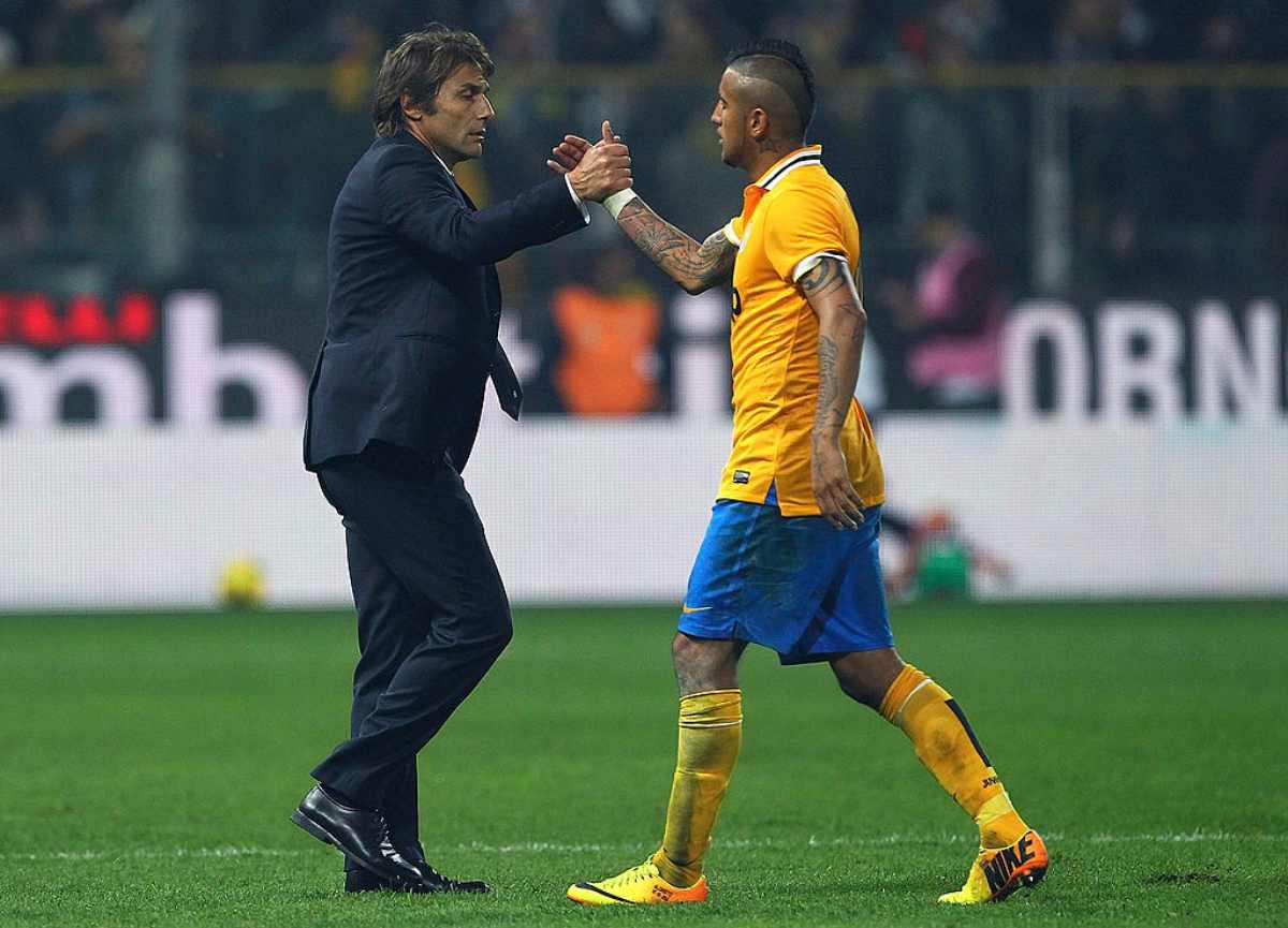 Vidal e Conte insieme alla Juventus