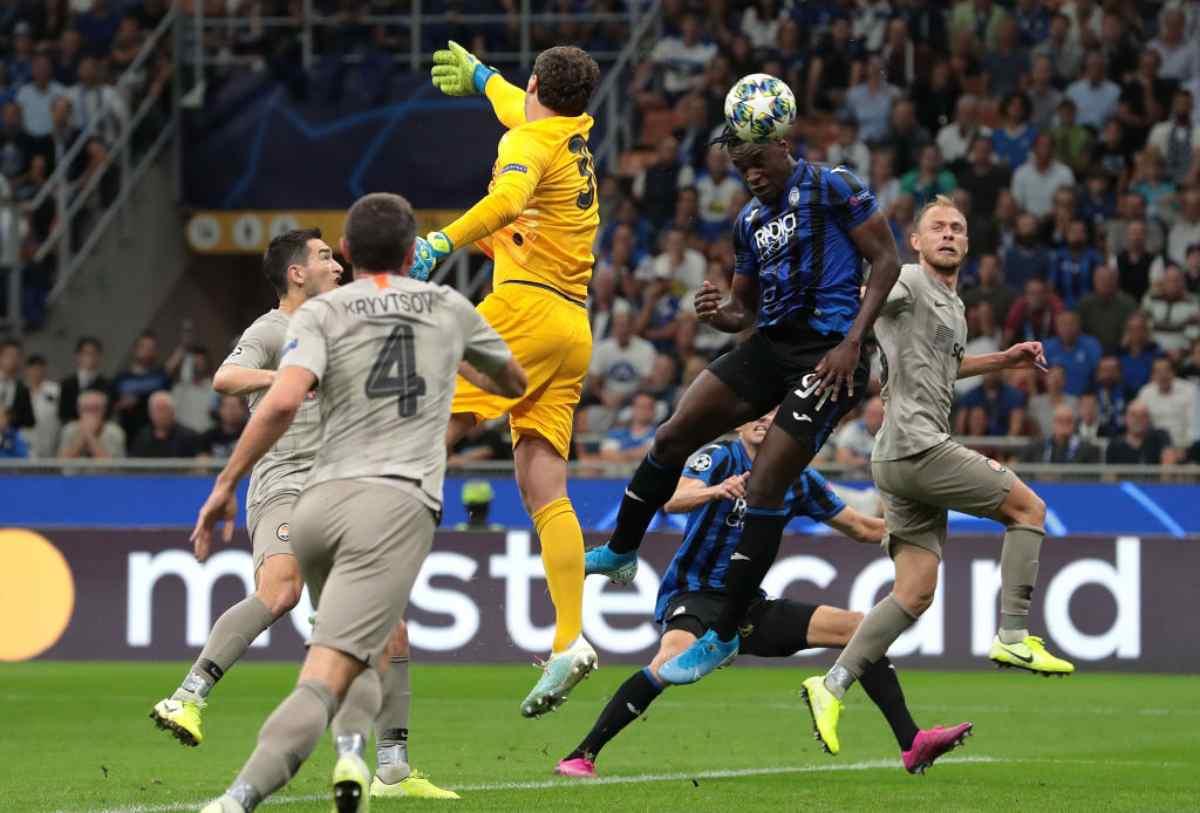 Il gol di Zapata in Atalanta-Shakhtar