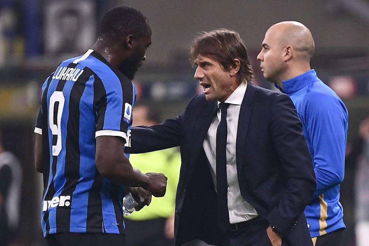 Antonio Conte con Lukaku