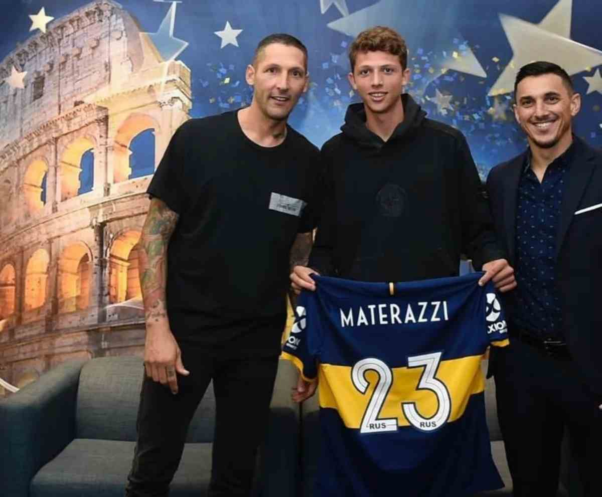 Passione Boca Juniors, Materazzi e suo figlio si tatuano lo stemma Xeneizes
