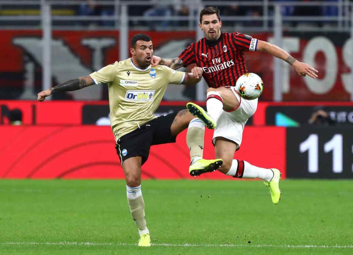 Milan-Spal, match della 10.a giornata di Serie A