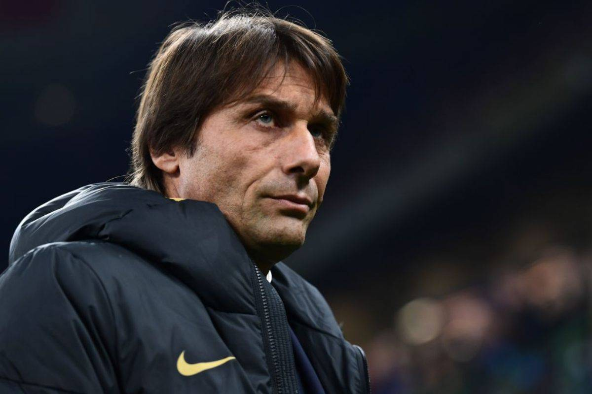 Antonio Conte in conferenza stampa per Torino-Inter