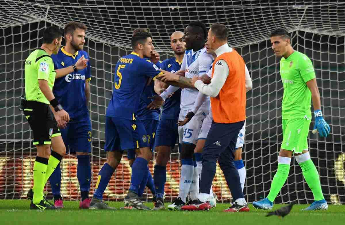 Balotelli razzismo Verona-Brescia