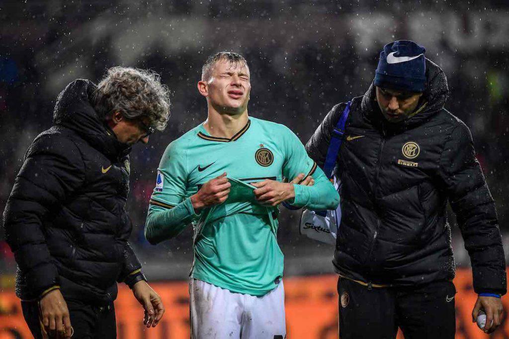 Barella infortunato in Torino-Inter
