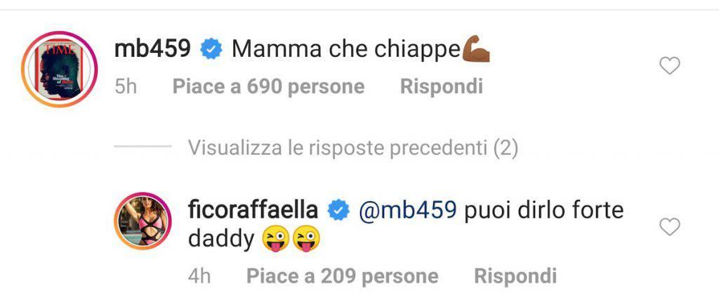 Commento hot di Balotelli sotto al video dell'ex Raffaella Fico
