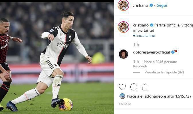 Cristiano Ronaldo dopo il Vaffa a Sarri chiude il caso via social