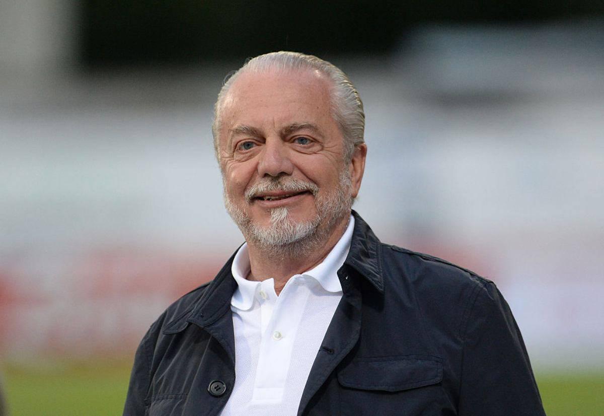 """Napoli, De Laurentiis: """"Abbiamo risposto a chi gufa, oggi non parliamo di multe"""""""