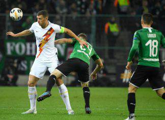 Europa League, Highlights Borussia Monchengladbach-Roma: gol e sintesi del match