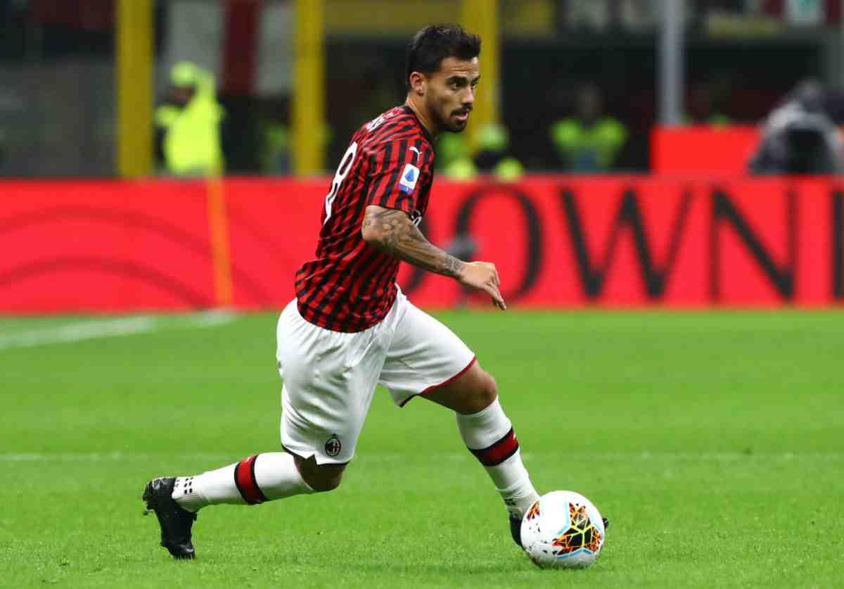 Suso infortunato: problema muscolare, out con la Lazio