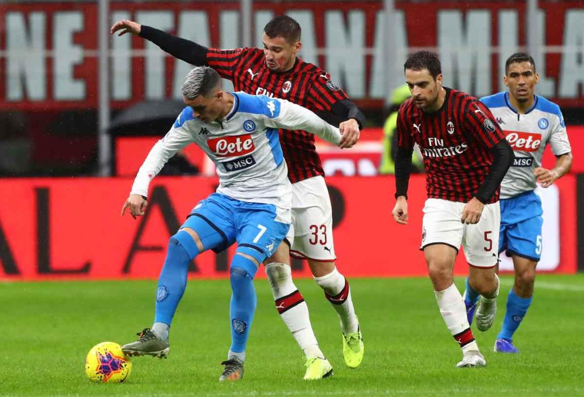Milan-Napoli 1-1, Bonaventura risponde a Lozano: pari inutile a San Siro