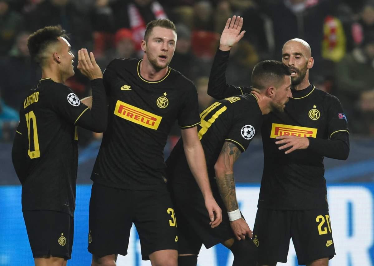 Slavia Praga-Inter 1-3: doppietta Lautaro e Lukaku, qualificazione vicina