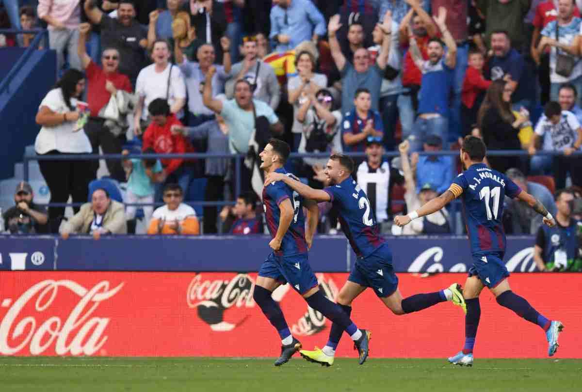 Liga: Levante, tris da ko al Barcellona in otto minuti