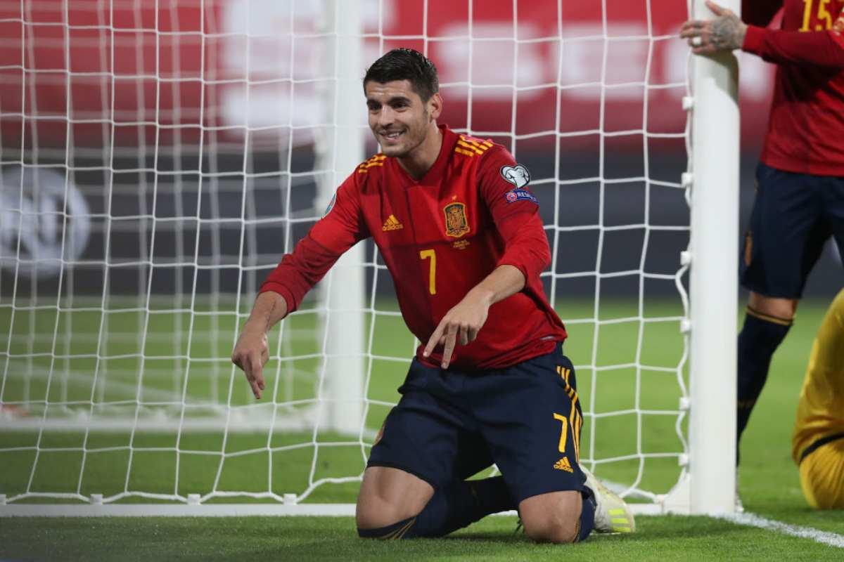 Morata da record, in gol in 7 match consecutivi con Atletico Madrid e Spagna