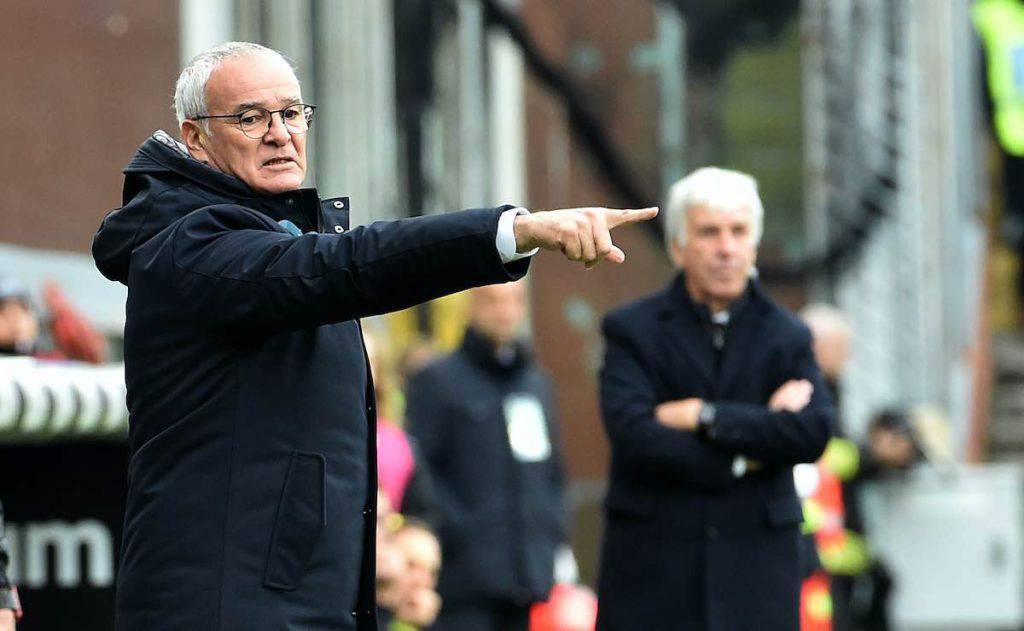Ranieri nel post gara contro l'Atalanta