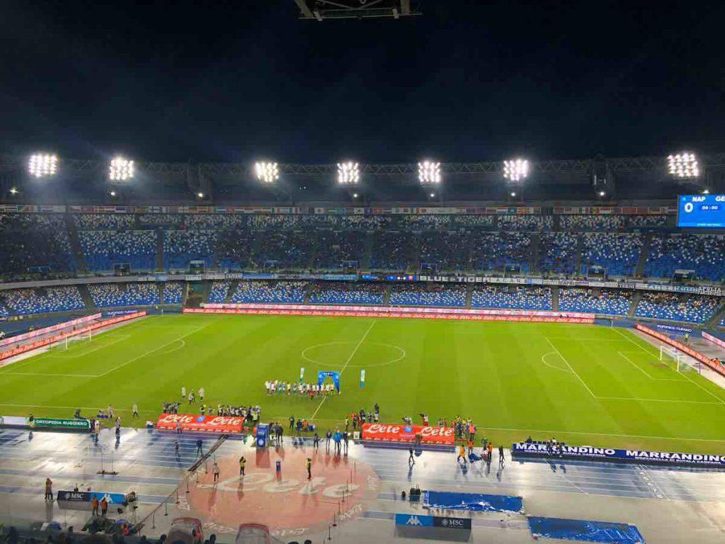 Stadio San Paolo semivuoto