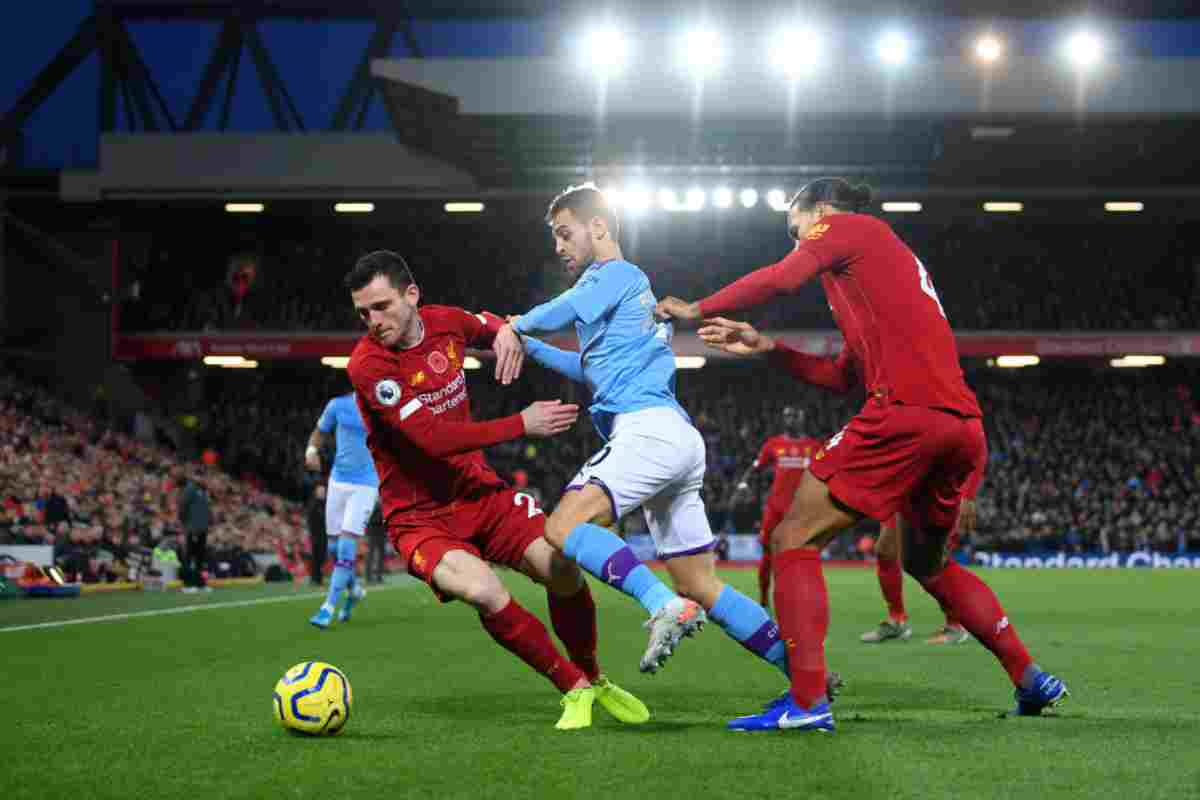 Liverpool-Manchester City, big match di Premier League