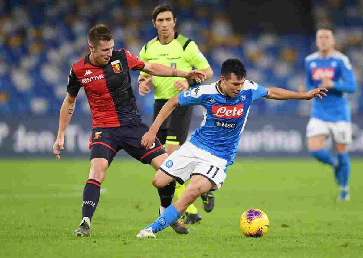 Napoli-Genoa, anticipo della 12.a di Serie A