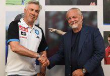 Ancelotti, faccia a faccia con De Laurentiis
