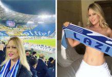 Anna falchi festeggia sui social la vittoria della Lazio