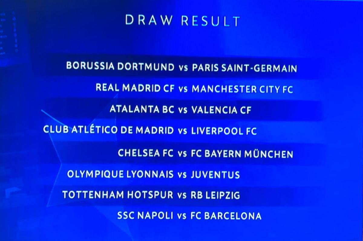 Sorteggi ottavi Champions League: le avversarie di Juventus, Napoli e Atalanta