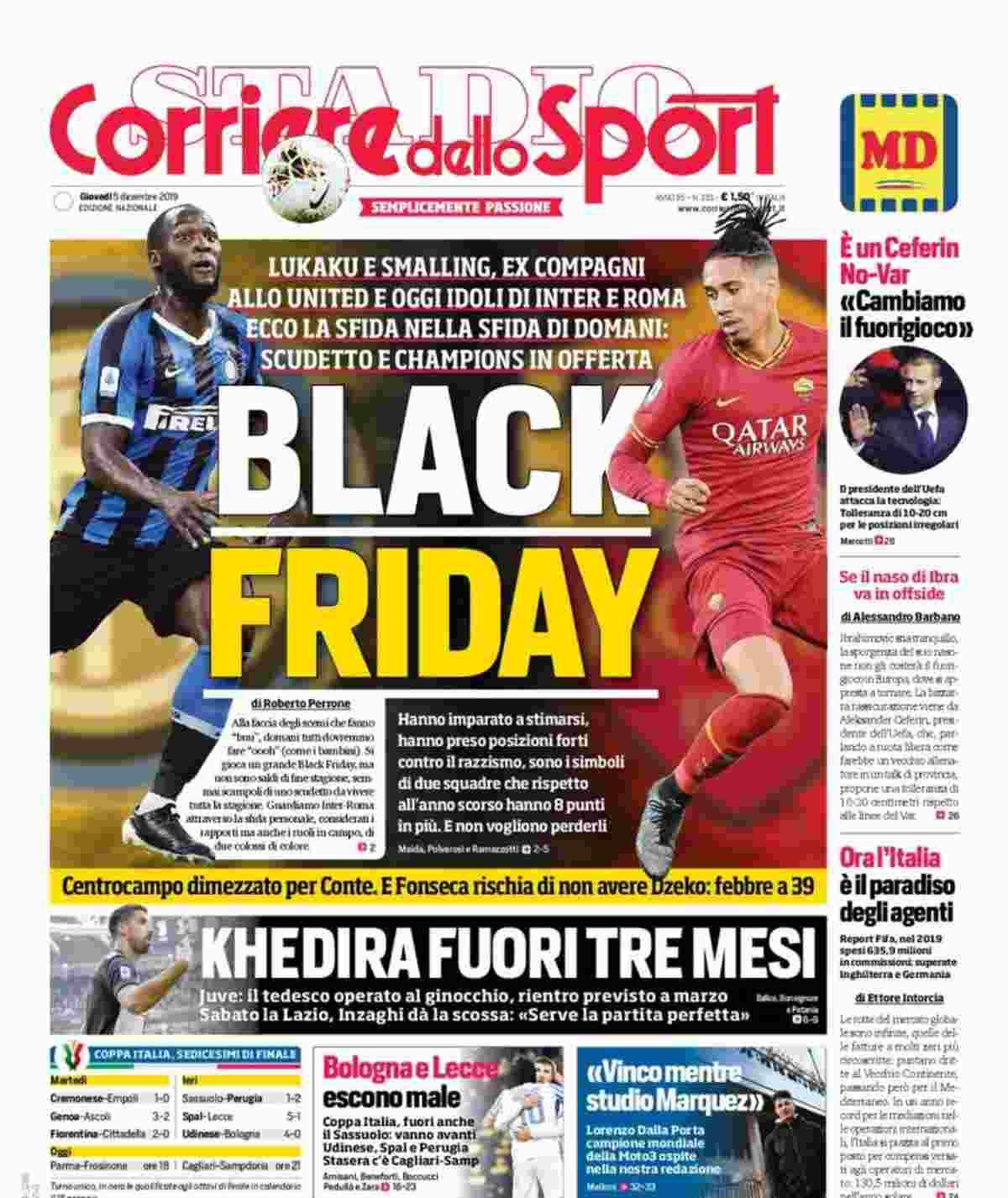 Corriere dello Sport, criticata la prima pagina per razzismo