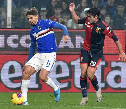 Genoa-Sampdoria: Gabbiadini, stoccata vincente. Il derby è blucerchiato