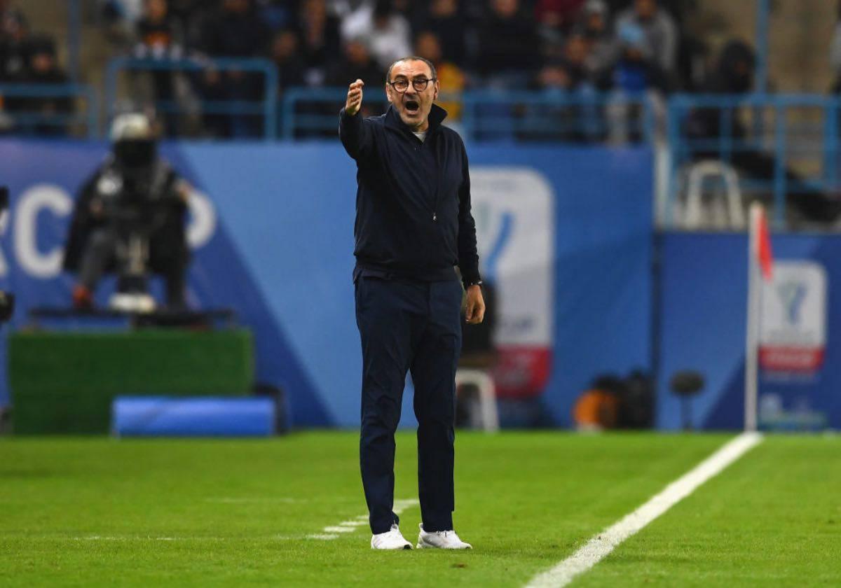 """Supercoppa, Sarri: """"Non penso a strascichi. Se la Lazio gioca così 8 mesi c'è poco da fare"""""""