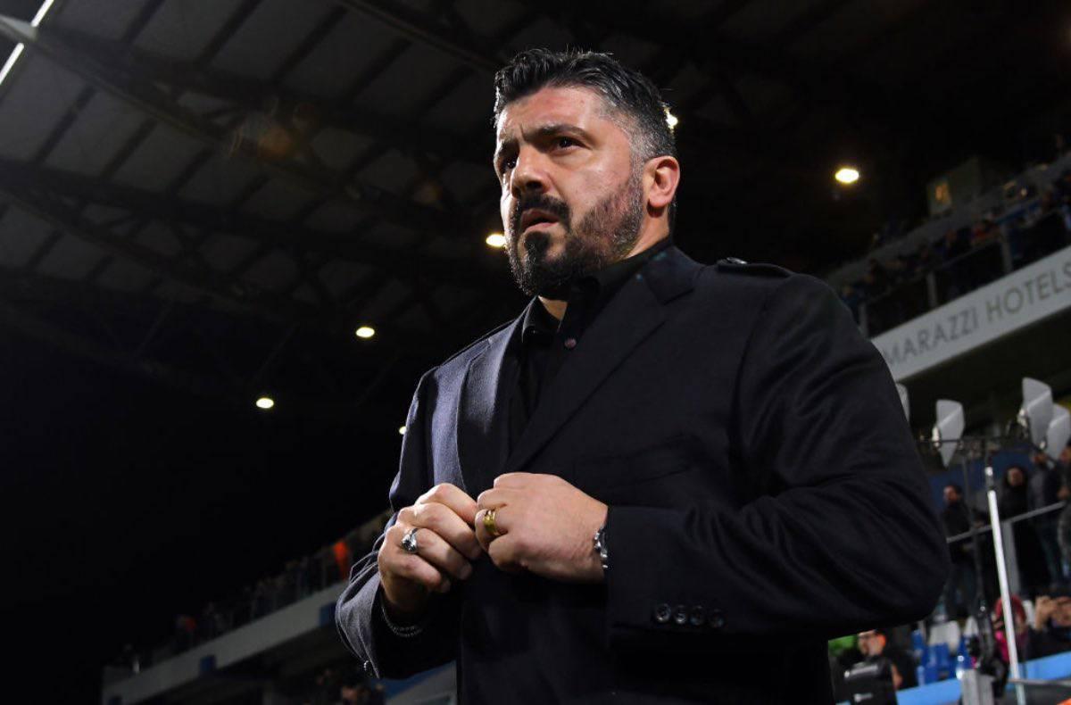 """Sassuolo-Napoli, Gattuso: """"Siamo ancora malati, serve più equilibrio"""""""