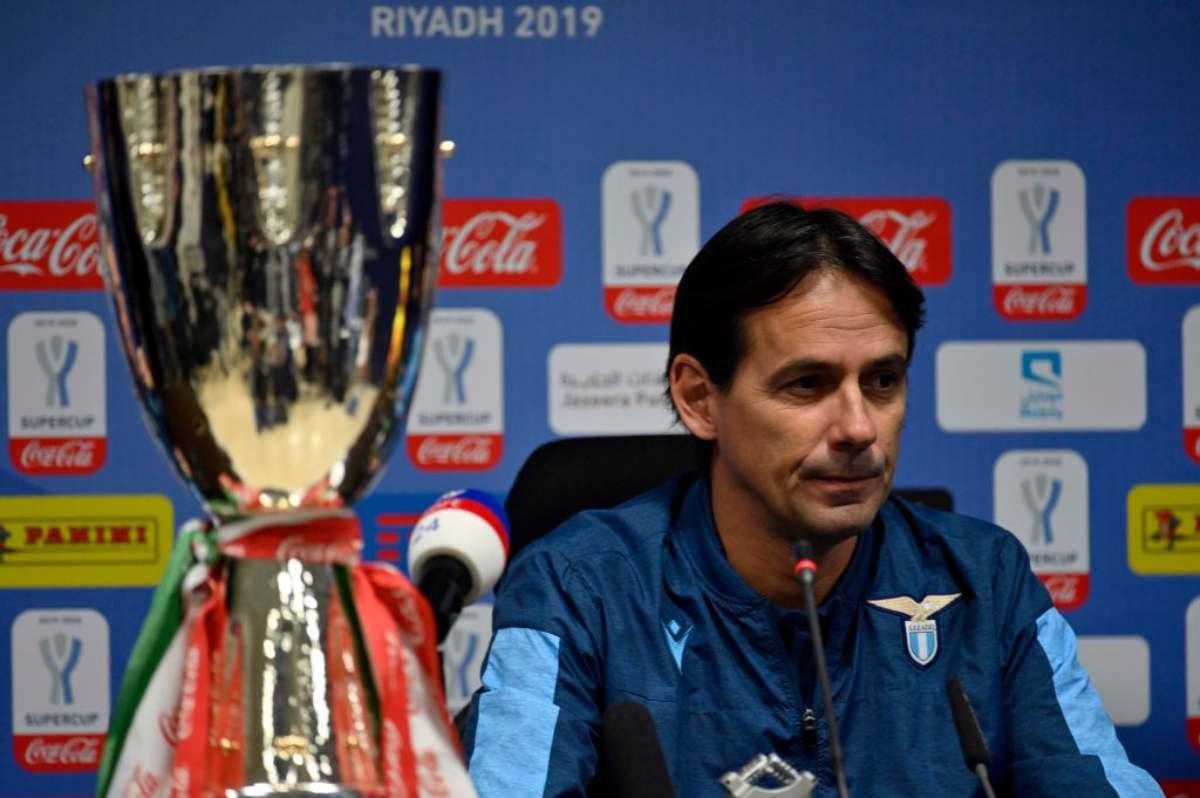 Simone Inzaghi parla in conferenza prima di Juventus-Lazio