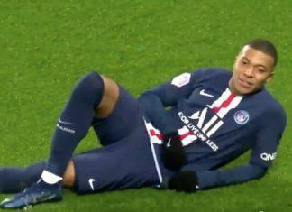 Mbappè gol di tacco contro il Nantes