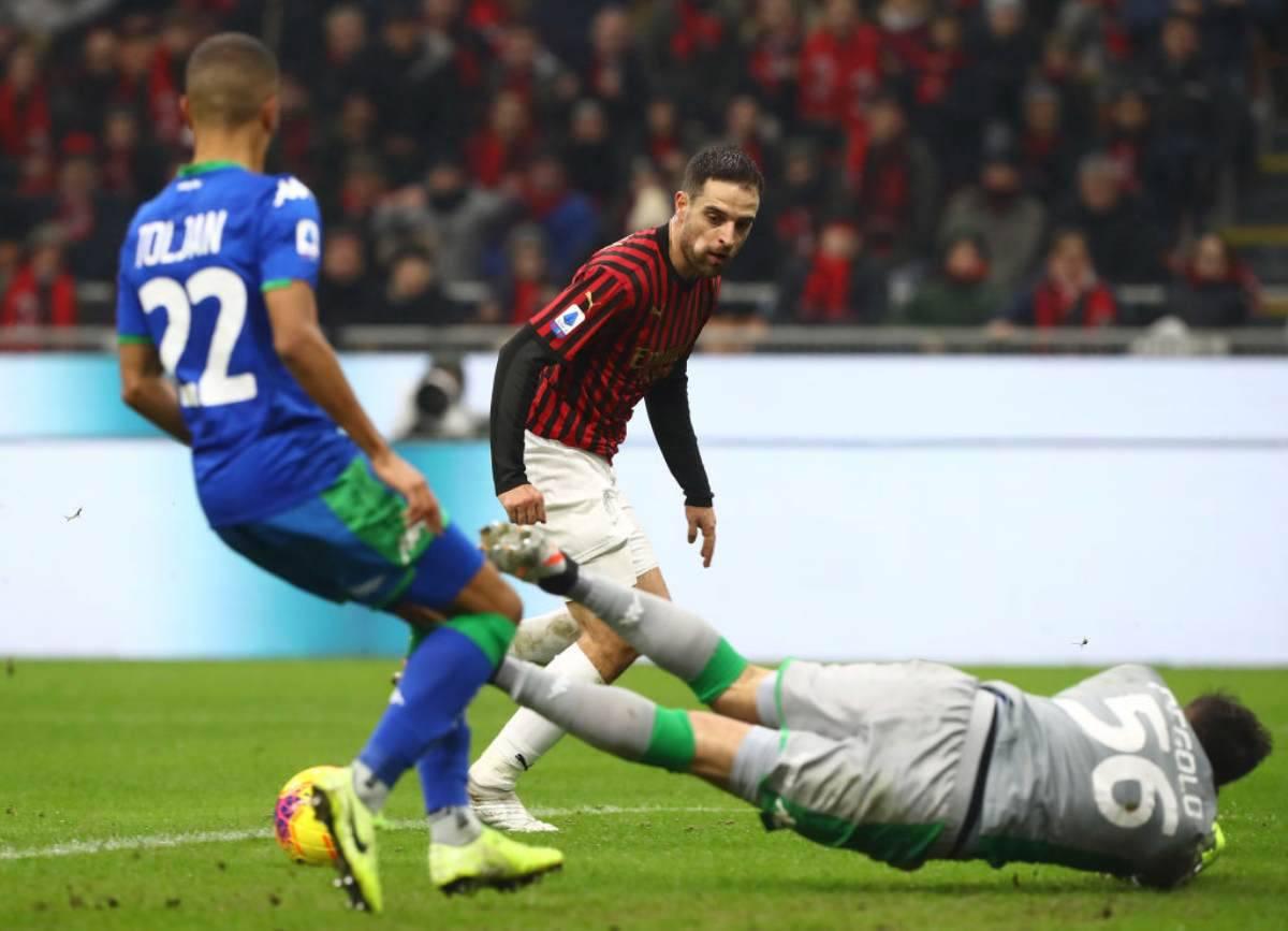 Milan-Sassuolo termina 0-0. Pegolo decisivo