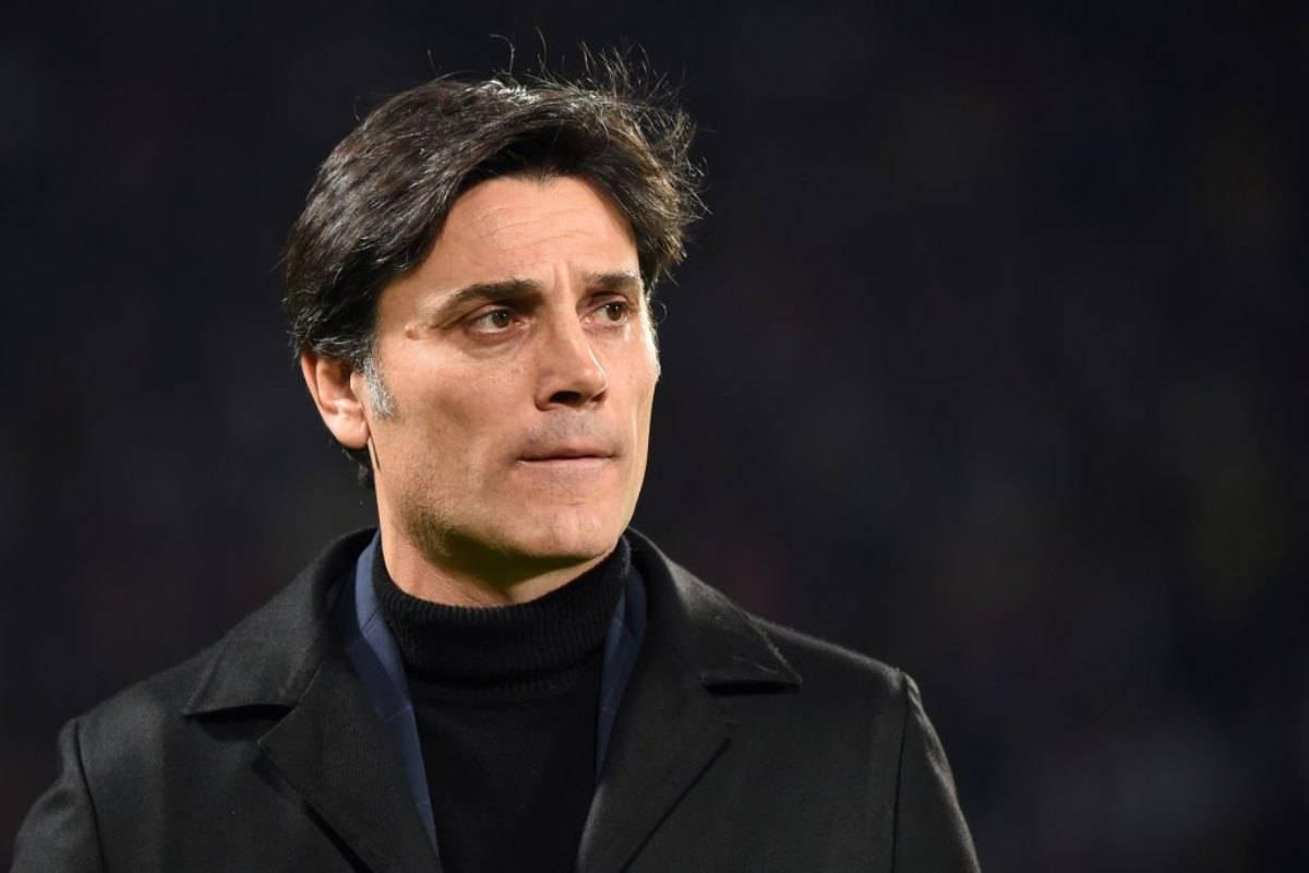 Vincenzo Montella in conferenza stampa per Fiorentina-Roma