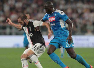 Napoli-Juventus, scambio fra due difensori
