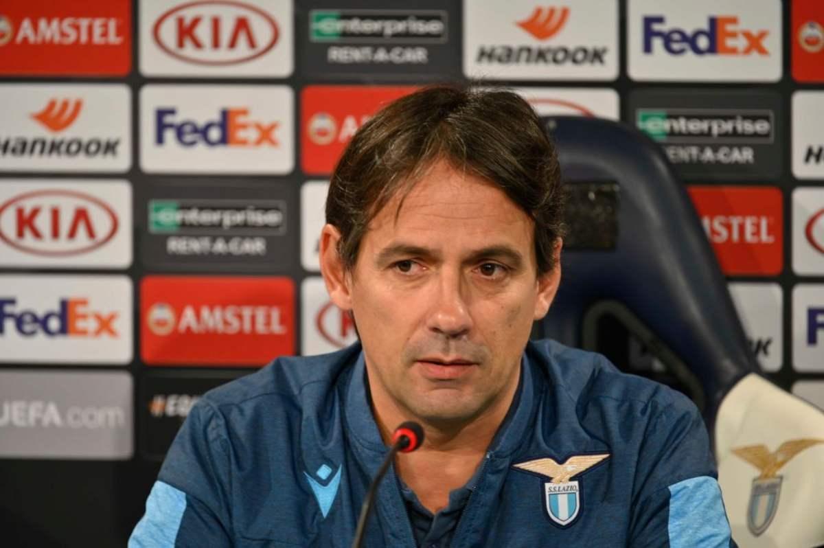 Simone Inzaghi, conferenza stampa Lazio-Juventus