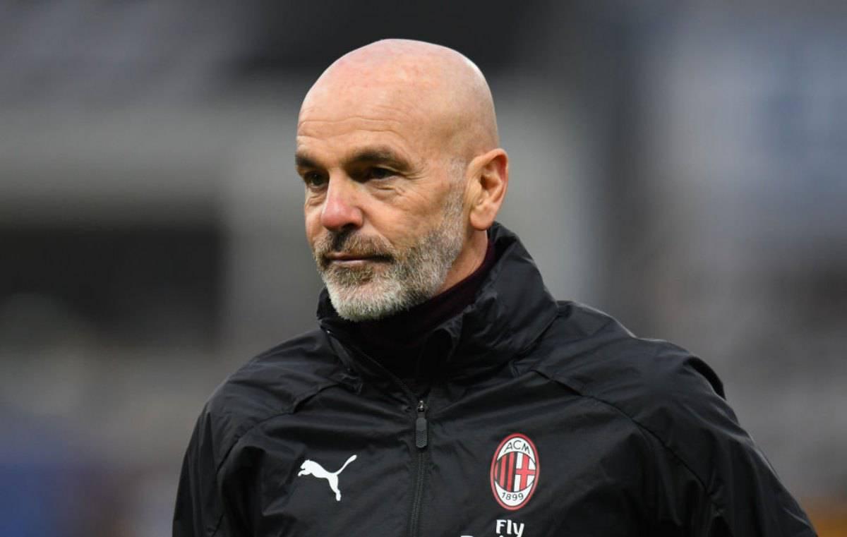 Stefano Pioli in conferenza per Atalanta-Milan