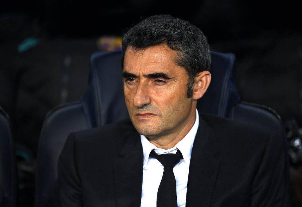 Valverde nel pre-partita con l'Inter