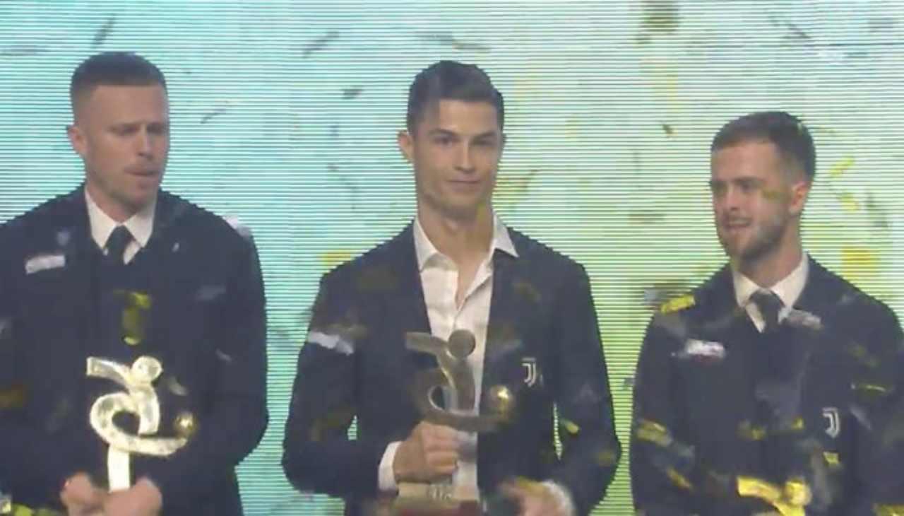Cristiano Ronaldo deluso al Gran Galà del Calcio