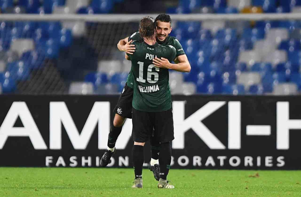 Sansone, gol decisivo in Napoli-Bologna