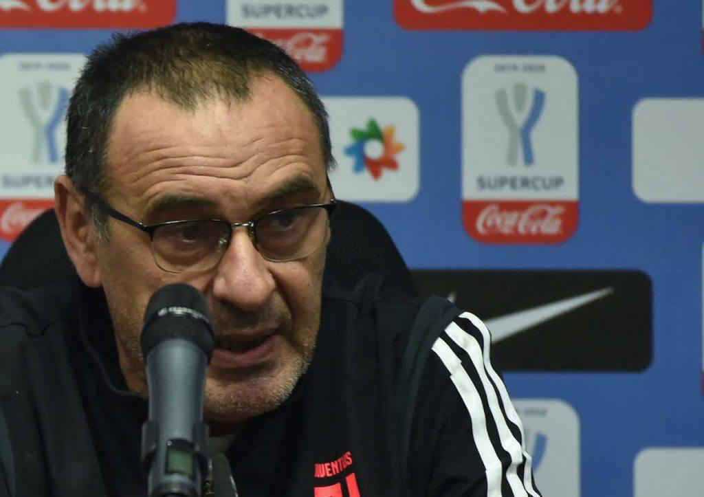Conferenza stampa Sarri Juve-Udinese