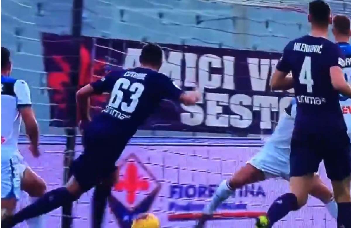 Il gol di Cutrone all'Atalanta