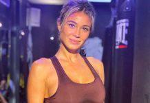 Diletta Leotta, allenamento in palestra per tenersi in forma