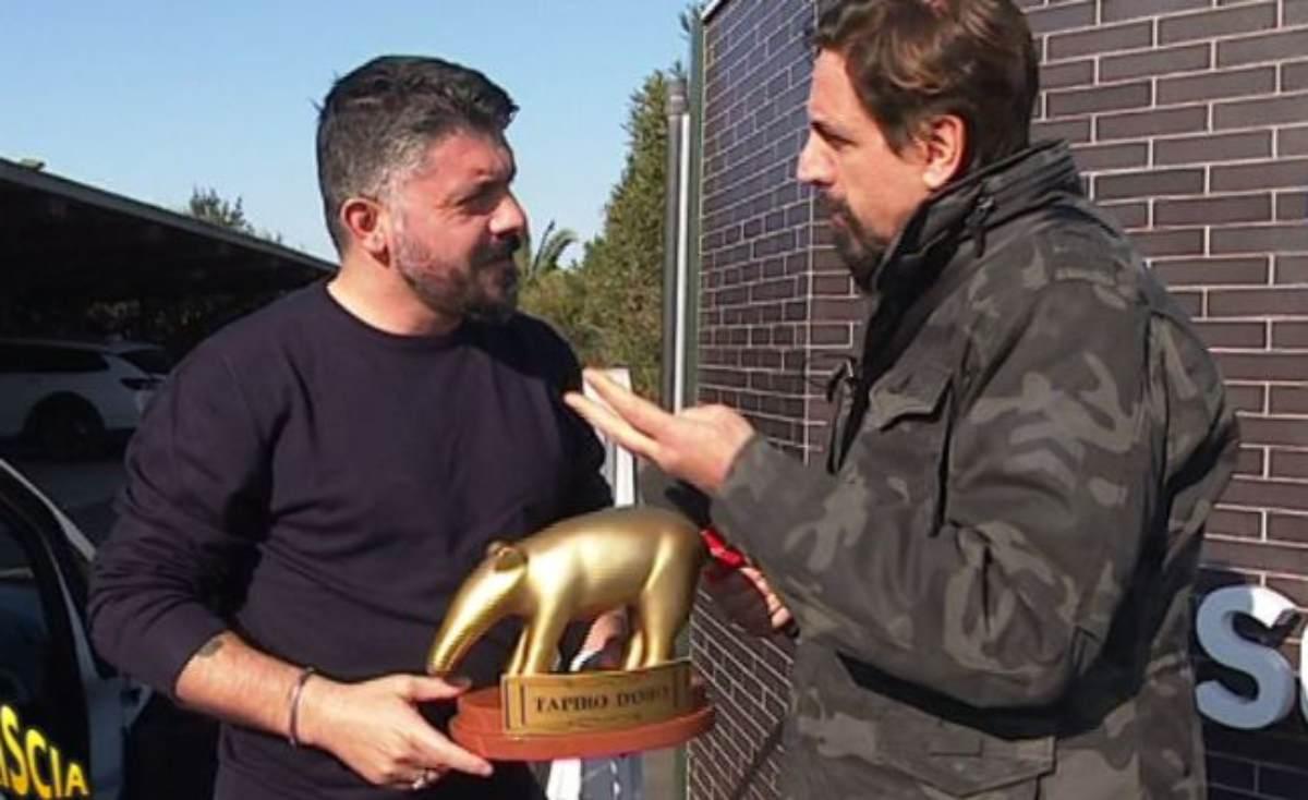 Napoli, Gattuso riceve il Tapiro d'Oro
