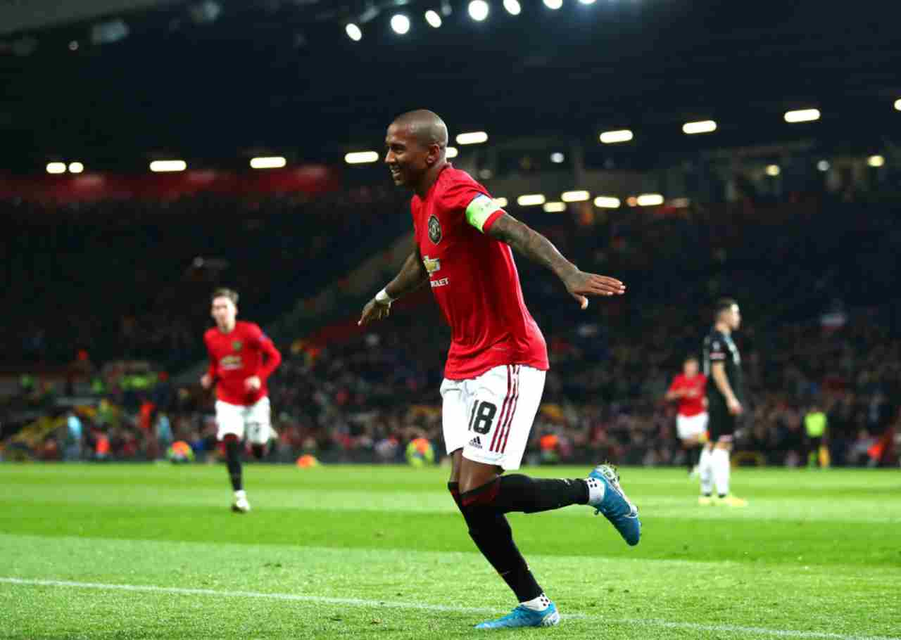 Ashley Young prime parole da neo giocatore dell'Inter
