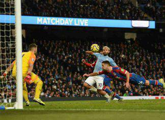 Premier League: il Manchester City frena contro il Crystal Palace, Aguero non basta