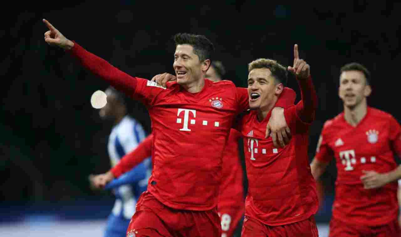Bundesliga: il Bayern Monaco si sveglia dopo un'ora, poker all'Hertha Berlino