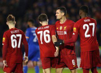 FA Cup: il baby Liverpool fermato dallo Shrewsbury, i due Manchester a valanga