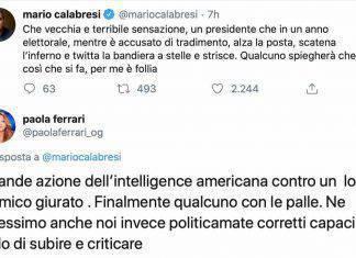 Paola Ferrari risponde a Mario Calabresi su Twitter