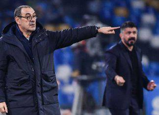 "Napoli-Juventus, Sarri: ""Pensavamo di vincerla camminando, emozionante tornare qui"""